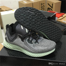2018 Futurecraft Alphaedge 4D LTD Aero Ash Green Core Black Running Shoes  Men Women Authentic Sports Sneakers With Original Box AC8485 ac72787df