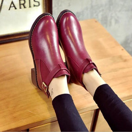 $enCountryForm.capitalKeyWord NZ - Leather Boots Women Brand Designer Superstars Short Ankle Boots Rivets Studded Martin Boots Winter Snow Booties Ladies
