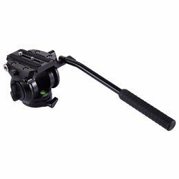 Dslr Slr Camera Australia - PULUZ Heavy Duty Video Camera Tripod Action Fluid Drag Head with Sliding Plate for DSLR & SLR Cameras