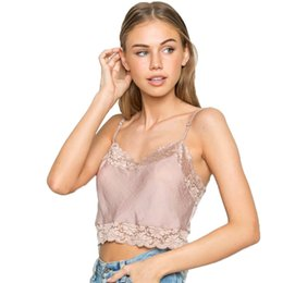 bcac5499d2 Sexy Lace Crop Tops Cropped Tank Top Women 2017 bralette Vest feminino  vadim halter Stain Camis