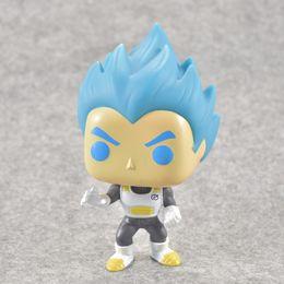 Discount doll vegeta - Anime Dragon Ball Funko Pop Q Version Son Goku Vegeta Super Saiyan God Model Toys Doll Decoration Pvc Collection Toys