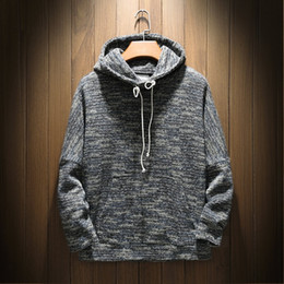 $enCountryForm.capitalKeyWord Canada - Hoodies Men 2018 Autumn Long Sleeve Dark Gray Knitting Hooded Sweatshirt Mens Hoodie Tracksuit Sweat Coat 5XL