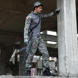 Discount camouflage combat suit - CCK Tactical Camouflage Uniform Clothes Suit Men US Army Multicam Hunting Combat Shirt + Cargo Pants