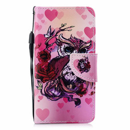Iphone 5a UK - For Iphone X XS 8 7 6 6S Plus 5 5S SE Redmi 4X 4A NOTE4 NOTE 5A Xiaomi 5X Flamingo Flower Leather Wallet Case Dreamcatcher Wolf Cover 8pcs