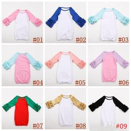 e0b0cdd322a10d 18colors Säugling Schlaf Kleidung Baby Mädchen Junge Baumwolle Kleider  Ruffle Kleid Langarm Schlafsack für Säugling Boutique Kleidung Strampler  0-2T