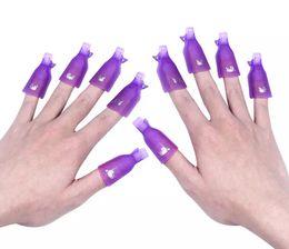 Discount purple gel nail polish - NEW ARRIVAL 10Pcs Beauty Acrylic Nail Art Smart Soak Off Clip Cap UV Gel Polish Remover Wrap White Purple