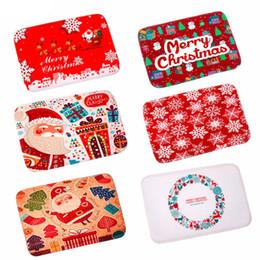 $enCountryForm.capitalKeyWord NZ - 1Pc Merry Christmas Door Mat Santa Claus Flannel Outdoor Carpet Christmas Decorations For Home Xmas Party Favors Navidad 2018 Y18102609