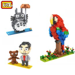 bean Anime Cartoon Diy Toys Gifts For Children Bau- & Konstruktionsspielzeug-Sets LOZ Mini Building Blocks Mr