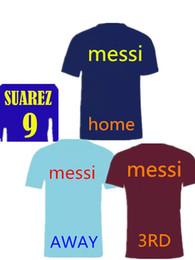 dcb8be20c 2018 Top quality MESSI Soccer Jersey 18 19 Suarez home shirt A.Iniesta  Pique I.Rakitic Jordi Alba O.Dembele Football uniforms shirt