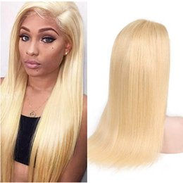 French Blonde Lace Wigs Australia - 613 Blonde Full Lace Silk Straight Human Hair Wigs Burazilian Virgin Hair Wave for Black Women 150 Density with Baby Hair