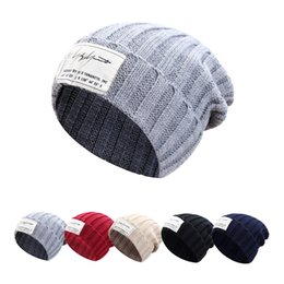 10bb2d9fb276 2018 Brand New Autumn Winter Solid Women s Warm Casual Acrylic Slouchy  Knitted Hat Men Crochet Skullies Beanies Cap For Couple