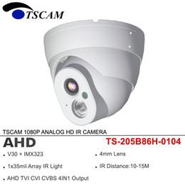 Wholesale Vandal Proof Cameras NZ - TSCAM 4in1 AHD TVI CVI CVBS 1080P 2MP ANALOG Dome HD IR CCTV Camera Metal Security Surveillance Array infrared