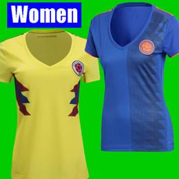 b0268e814cf Thailand women COLOMBIA soccer jersey 2018 World Cup Jersey FALCAO CUADRADO  BACCA JAMES Football kit girls soccer shirt camisetas
