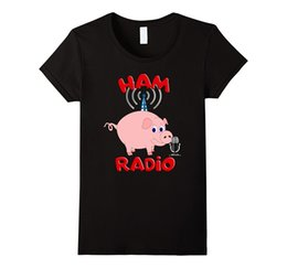 Discount ham radio antennas - Women's Tee Ham Radio Pig Antenna T-shirt Good Quality Comfortable Softer Tops European Style Hip Hop S - Xl Crazy