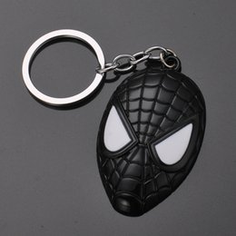 Key Rings Vehicle Car-styling Spider Shape Cartoon Keychain With Led Light Sound Keyfob Kids Toy Gift Aa# Dropship Interior Accessories