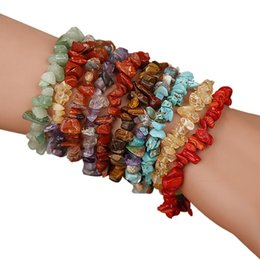 $enCountryForm.capitalKeyWord Australia - 2018 Handmade 5-8mm Mixed Natural Stone Chip Beads Stretchy Bracelet Healing Reiki Armbanden Voor Vrouwen Sieraden Drop Shipping