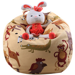Portable Bean Bag Chairs NZ - Stuffed Animal Storage Bean Bag Chair Portable Kids Toy Organizer Play Mat Clothes Home Organizers 38inch 32inch 26inch 24inch 18inch 16inch
