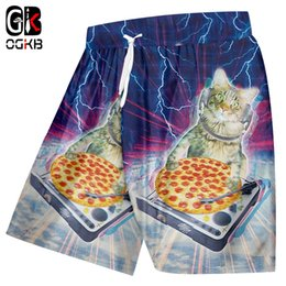 Trousers Big Size Man Canada - OGKB Man Hot Gyms Animal 3D Print Starry sky cat Handsome Big Size Clothing Men Spring Short Trousers Jogger