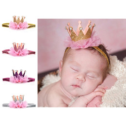 a8dd2087dbc 1pc Newborn Crown Headband Gold princess crown Baby Girls Cute Hair Band  Infant Kids Hair Accessories Children Photo Props
