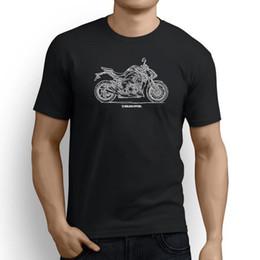 Опт Kawasaki Z1000 2017 вдохновленный мотоцикл искусство мужская футболка