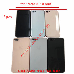 $enCountryForm.capitalKeyWord Australia - 5pcs A quality For iPhone 8 8g 8 plus Back Cover Housing Back Battery Door Cover Replacement