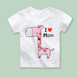 Wholesale cartoon shirt designs for sale – custom Summer Designs Sizes a Children Cotton Round Neck Cartoon Animal Printed Short Sleeve Knitting T shirt Soft Big Kid s T shirt T