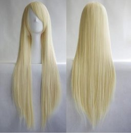 Long Blonde Hair Weaves Australia - Free shipping++++Women's Full Long Straight Weave Blonde Hair Wigs Cosplay Costume Party Wig