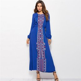 d4ccd212cd Summer Maxi Dress Long Sleeve Floral Bohemian Women Dresses Flower Hippie  Gypsy Vintage Beach Long Blue Dress 2018