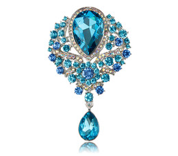 $enCountryForm.capitalKeyWord UK - MISANANRYNE Vintage Waterdrop Crown Brooch Rhinestone Crystal Women Bridal Wedding Brooch Pin Party Jewelry Mujer Bijoux Gift