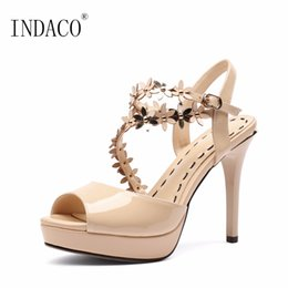 Discount patent leather platform sexy shoes - Scarpe Donna Estive Red Platform Sandals High Heel Patent Leather Sexy Wedding Shoes 10cm