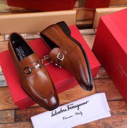 8253c26d0a3 Chaussures en cuir marron de qualité supérieure 207513 Chaussures habillées  pour hommes Mocassins Mocassins À Lacets Ups Monk Straps Bottes Pilotes Cuir  ...