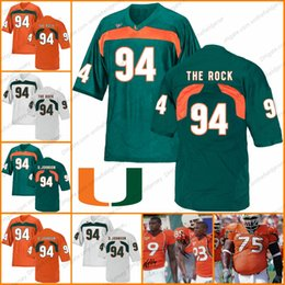 1d7bc3bea Miami Hurricanes  94 The Rock Dwayne Johnson D.Johnson 83 Sam Shields 75  Vince Wilfork 9 Sam Shields NCAA College Football Jerseys S-3XL