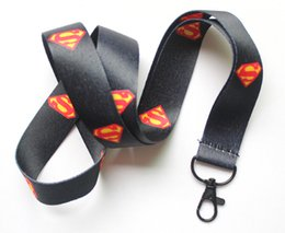 $enCountryForm.capitalKeyWord Canada - Free shipping Lot 10pcs lot Cartoon Animation black Superman Mobile Phone lanyard Key chain straps charms Wholesale
