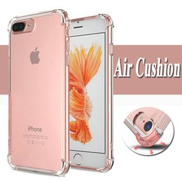 case protection iphone 5s NZ - Air Cushion Shockproof 1.5MM Clear Transparent TPU Soft Silicone Rubber Full Protection Cover Case for iPhone XS Max XR X 8 7 6 6S Plus 5 5S