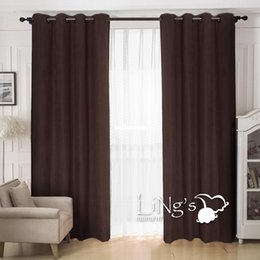 $enCountryForm.capitalKeyWord NZ - LiNg's Solid Color Faux Suede Curtain For Living Room Ready Made Eyelet Ring Top Window Home Decoration
