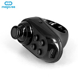 mini bluetooth game controller android 2019 - Magicsee Bluetooth 4.0 Mini Ring Rechargeable Wireless VR Glasses Remote Controller Joystick Gamepad For iOS Android Gam