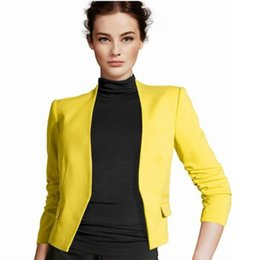 China 2017 Female Autumn Suit Office Fashion Basic Jacket Blazer Women Suit Cardigan Puff Sleeve Ladies Autumn Coats Casual blazer cheap lady jacket puff sleeves suppliers