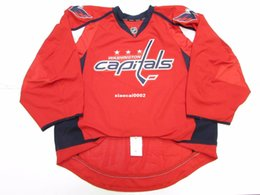 goalie jerseys NZ - Cheap Custom WASHINGTON CAPITALS AUTHENTIC HOME EDGE JERSEY GOALIE CUT 60 Mens Stitched Personalized hockey Jerseys
