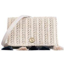 9a7235564 Mini Lino Tejido Borla Diseñador de Moda Bolso de Hombro de Cuero Para Las  Mujeres Casual Cuero Negro Messenger Bag Ladies 2080 Bolsas Tienda 18 * 7 *  11 CM