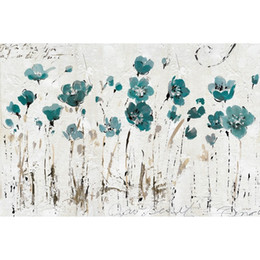 modern floral oil paintings Australia - Modern art flower oil painting for living room Abstract Balance Blue wall decoration 100% handmade High quality