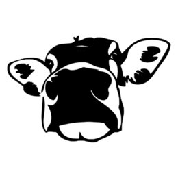 5d7a47296 Discount cow stickers - 13.9*9CM Humour Funny Cow Big Face Car Sticker  Interesting Decorative