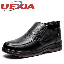 $enCountryForm.capitalKeyWord NZ - Winter Men Leather Ankle Boots Fashion Casual Plush Warm Shoes For Men Leisure Formal Business Slip-On Botas Italian Dress Shoes