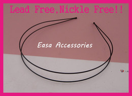 $enCountryForm.capitalKeyWord NZ - 10PCS Black 1.2mm Double Wire Plain Metal Hair Headbands with 3mm ball beads end at nickle free and lead free,BARGAIN for BULK