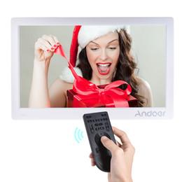 Andoer 15.6 polegada Digital Photo Frame Máquina de Publicidade Full View IPS Tela Suporte Play com Presente de Natal Remoto