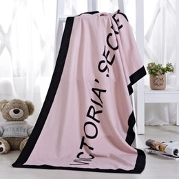 Marca verão VS Segredo Toalha De Banho Toalha De Praia Rosa Micro Fibra Cobertor de Lã Pequeno Victoria Secagem Toalhinha Swimwear Chuveiro venda por atacado