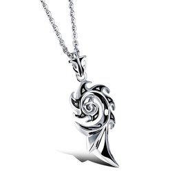 272152bda482d Fashion Jewelry Vintage Stainless Steel Men Necklaces Hot sale The Flame  Fire Pendant Necklace For men jewelry