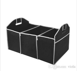 storage car trunk organizers UK - Foldable Car Organizer Boot Stuff Food Storage Bags trunk organiser Automobile Stowing Tidying Interior Accessories Folding Collapsible.