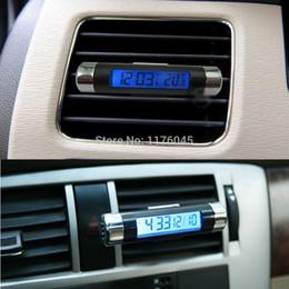auto clocks car 2019 - 2 in1 Car Auto LCD Clip-on Digital Backlight Automotive Thermometer Clock discount auto clocks car