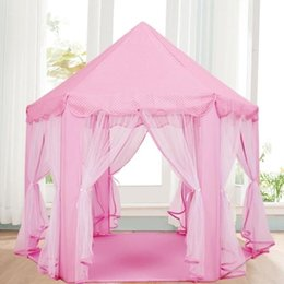 Playhouse Games Australia - Free Shipping!Children Portable Floding Princess Castle Play Game Tent Activity Fairy House Funny Indoor Outdoor Sport Playhouse Toy For Kid