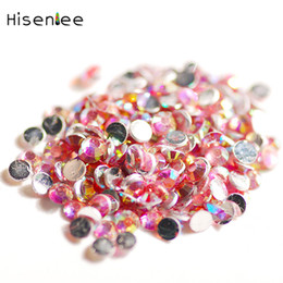 Hohe qualität 3000 stücke mode mini harz AB farbe flache runde strass DIY charme nagel telefon shell zubehör dekoration